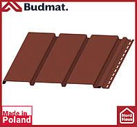 Софит Budmat ( коричневый ). Панель будмат 3 х 0,34 м. Софит сплошной.