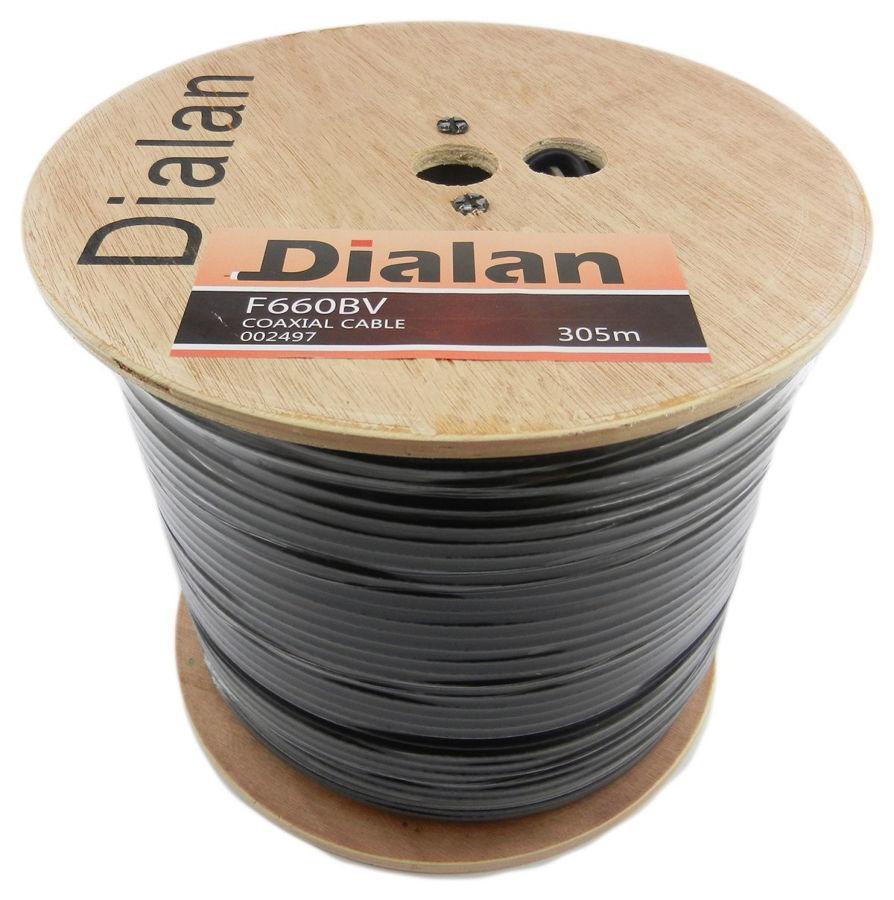 Dialan  F660BV(CU)  BLACK Экранирование 60% 75 Ом 305м