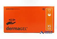 Перчатки латексные ДермаГель, размер XS, текстурированные (DermaGEL, Mercator Medical), 50пар/упак.