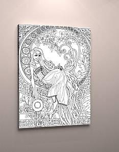 Картина раскраска антистресс на холсте