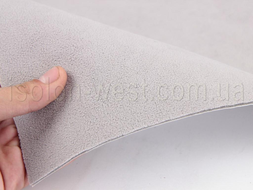 Автовелюр самоклейка Frota 3 светло-серый (теплый оттенок) на поролоне и сетке, лист 178х100см