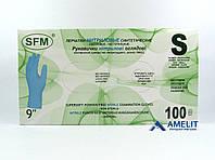 "Перчатки нитриловые СФМ, (SFM Hospital Products), размер ""S"", 50пар/упак., фото 1"
