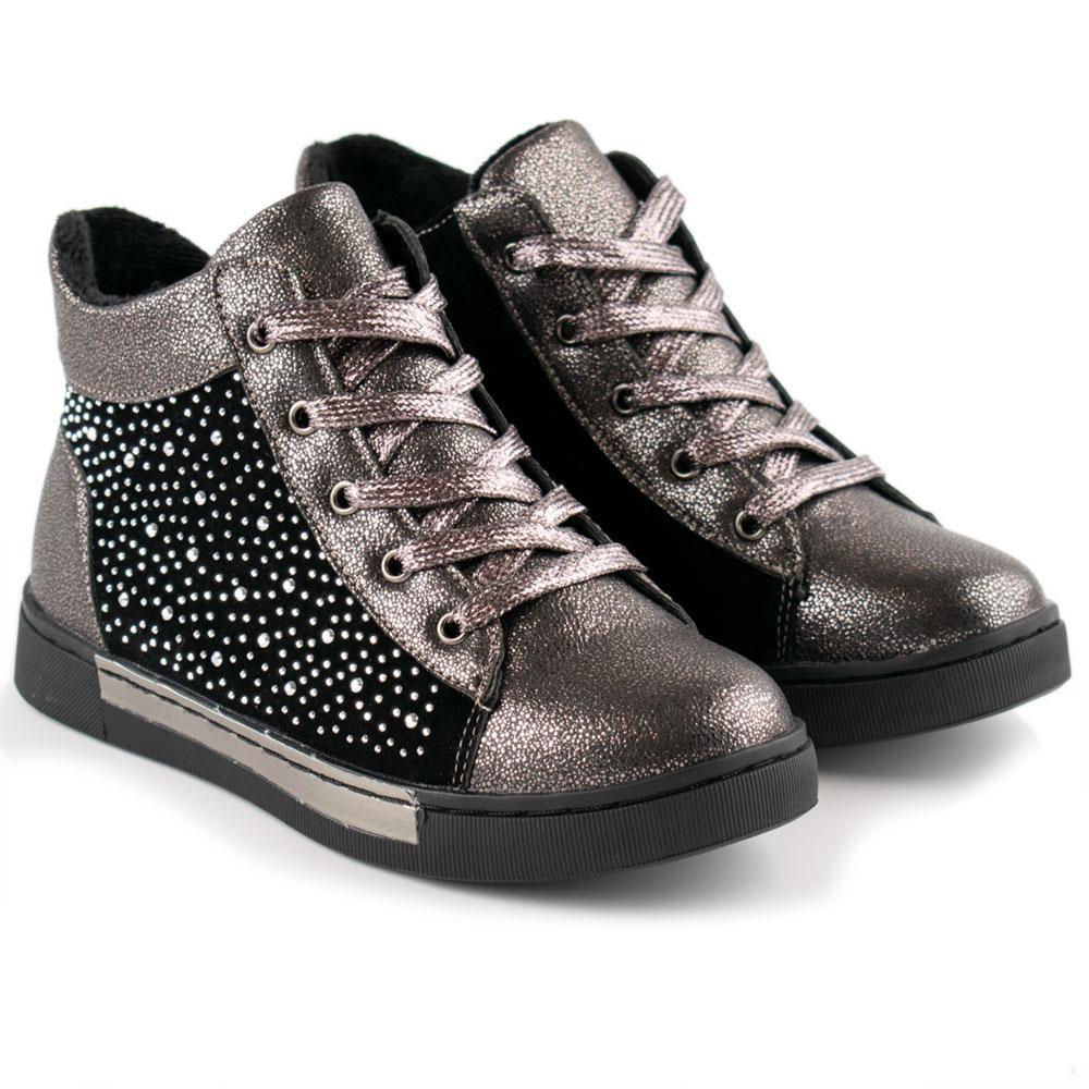 Ботинки для девочек Солнце 33  платина 980525
