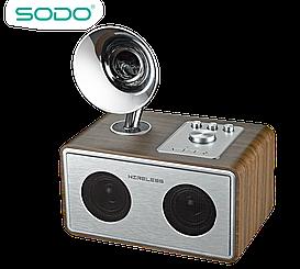 Беспроводная Bluetooth колонка SODO Z17 Silver JKR | Оригинал | Гарантия