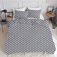 Комплект семейного постельного белья STARS BIG GREY (хлопок, ранфорс), фото 1