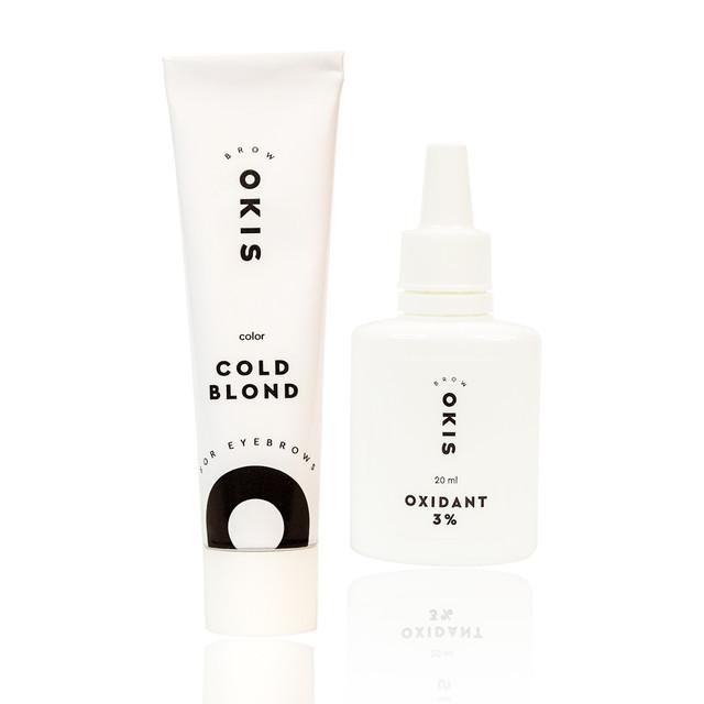 Крем-краска для бровей COLD BLOND с окислителем с экстрактом хны OKIS BROW