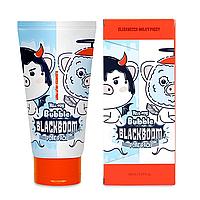 Кислородная маска для очищения пор ELIZAVECCA Hell Pore Bubble Black Boom, 150 мл