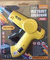 """MasterTool Пистолет клеевой Ø 7,2 мм 200 Вт 5 г/мин """"Капля-Стоп"""" с переключ. темп. режима и LED-индикатор"""