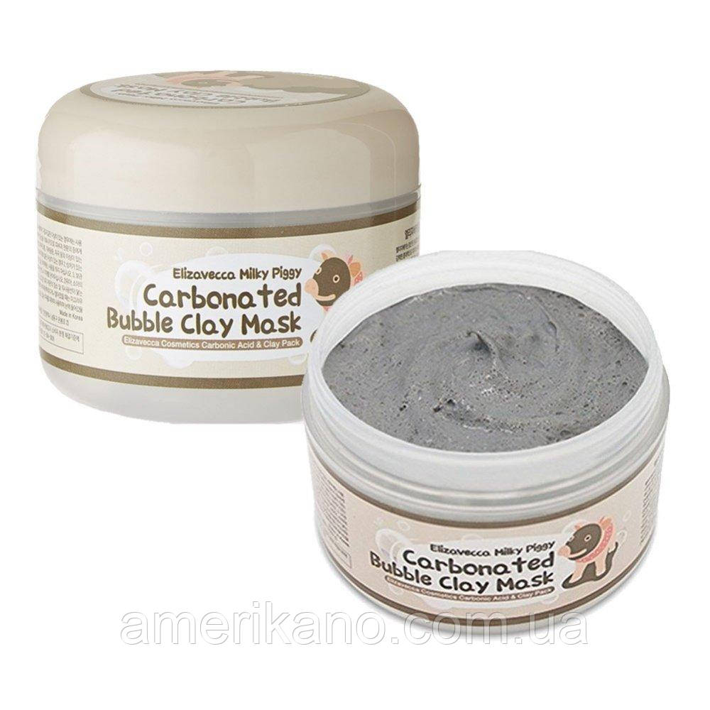 Пенящаяся маска для лица ELIZAVECCA Milky Piggy Carbonated Bubble Clay Mask, 100 мл