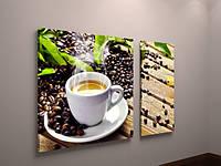 Фотокартина модульная фото картина на холсте для кухни чашка кофе