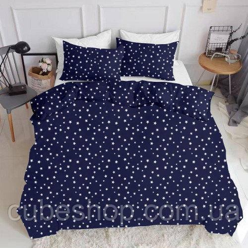 Комплект семейного постельного белья STARSFALL BLUE (хлопок, ранфорс)