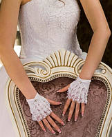 Свадебные коротенькие перчатки (П-к-2)