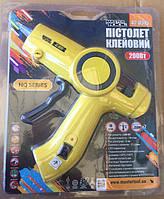 """MasterTool Пистолет клеевой Ø 11,2 мм 200 Вт 10 г/мин """"Капля-Стоп"""" с переключ. темп. режима и LED-"""