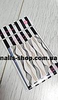Гибкая лента-волна для дизайна ногтей (розовое золото+чёрная), фото 1