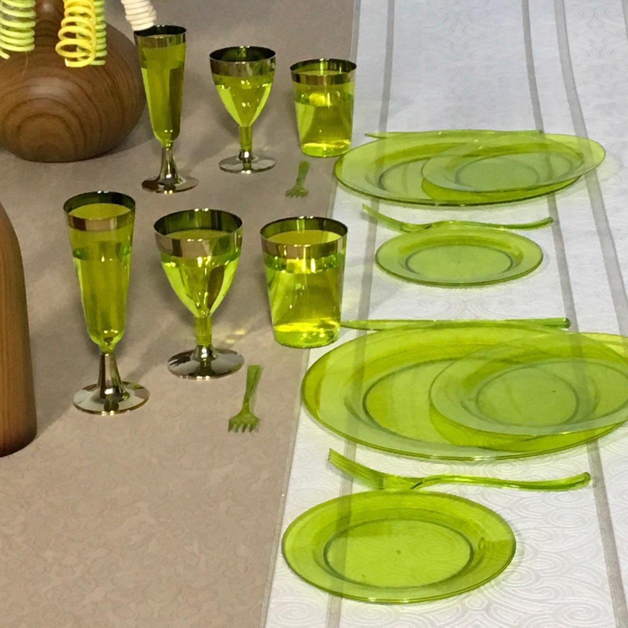 Тарелки одноразовые пластиковые  оптом от производителя  для ресторанов, кейтеринга и хореки CFP 6 шт  190 мм