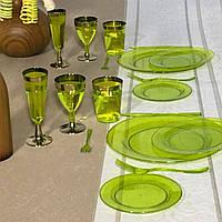 Тарелки пластиковые многоразовые плотные опт для ресторанов кафе баров, кейтеринга и хореки CFP 6 шт  190 мм, фото 1