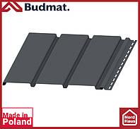 Софит Budmat ( графит ). Панель будмат 3 х 0,34 м. Софит сплошной.