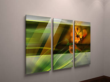 Фотокартина модульная на холсте яркая абстракция цветы