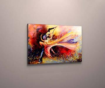 Картина яркая двое танцуют  холст