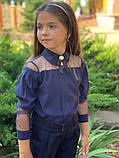 Модная детская блуза,размеры:128,134,140,146., фото 3