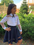 Модная детская блуза,размеры:128,134,140,146., фото 4