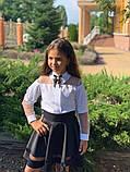 Модная детская блуза,размеры:128,134,140,146., фото 5