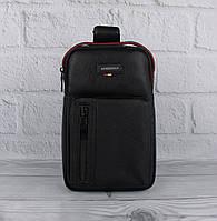 Мужская сумка слинг через плечо, рюкзак, борсетка Bolo 1339 черная, фото 1