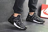 Мужские кроссовки 8132 найк в стиле чорно білі