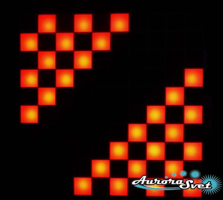 Светодиодная пиксельная панель напольная F-100-10*10-4-P