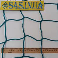 Спортсетка безузловая испанская, полипроплен, D – 3 мм, ячейка – 10 см, для ограждения спортплощадок, зелёная