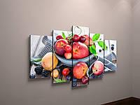Модульная картина на холсте для кухни фрукты натюрморт