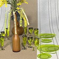 Тарелки твердые одноразовые пластиковые небьющиеся для пикника, мангал меню, праздника CFP 6 шт 155 мм, фото 1