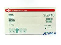 """Перчатки латексные Нобаглов (NobaGlove, Noba), размер """"М"""", текстурированные, 50пар/упак., фото 1"""