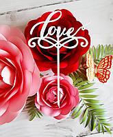 Топпер в торт свадебный′Love′