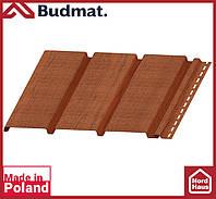 Софит Budmat ( орех ). Панель будмат 3 х 0,34 м. Софит сплошной.