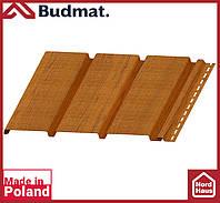Софит Budmat ( золотой дуб ). Панель будмат 3 х 0,34 м. Софит сплошной.