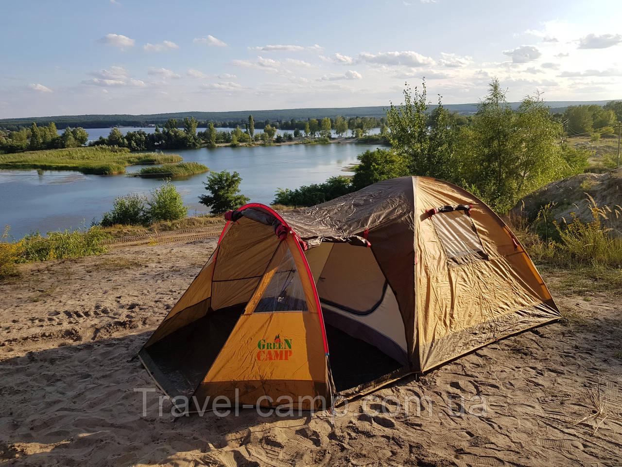 Премиальная туристическая палатка (3-х местная) от американского бренда GreenCamp