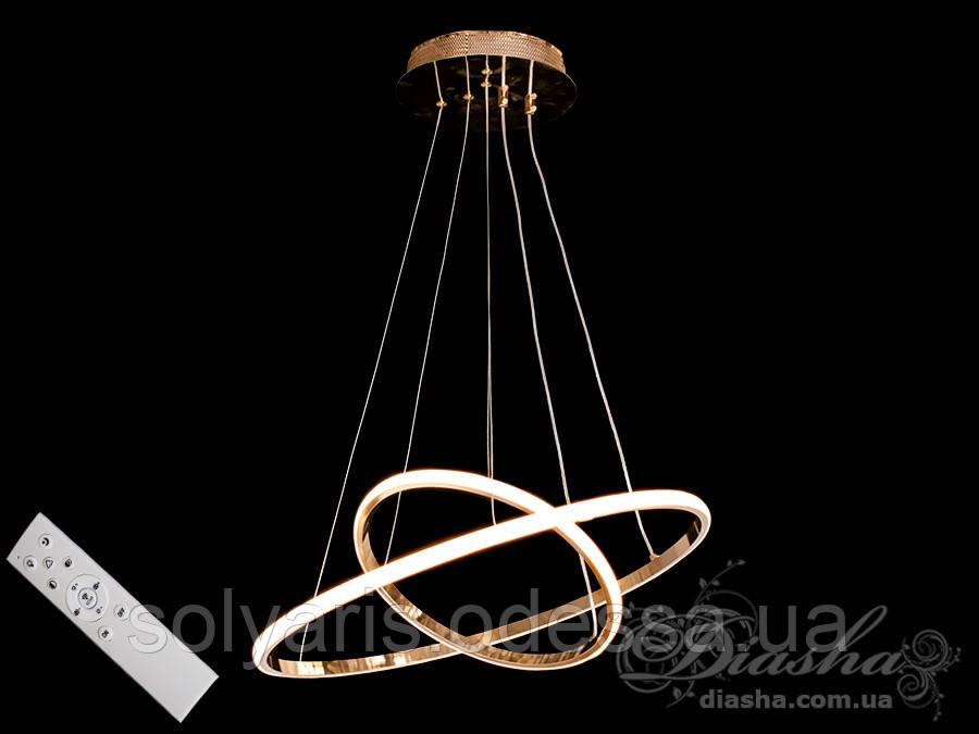 LED люстра подвес кольца с диммером, 70W MD9079-2AHR-500+300 dimmer