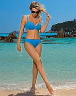 Трендовый бархатный купальник Self Collection голубого цвета. Размеры: M, L, XL, 2XL, 3XL