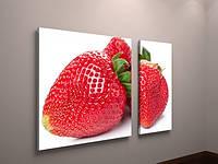 Картина модульная для кухни фрукты клубника
