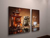 Картина модульная для кухни кофе кофейные зерна