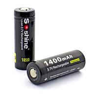 Аккумулятор Soshine 18500 Li-Ion 1400 mAh 3,7V защищенный, фото 1