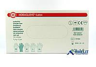 """Перчатки латексные Нобаглов (NobaGlove, Noba), размер """"S"""", текстурированные, 50пар/упак., фото 1"""
