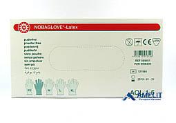 """Перчатки латексные Нобаглов, размер """"S"""", текстурированные (NobaGlove, Noba), 50пар/упак."""