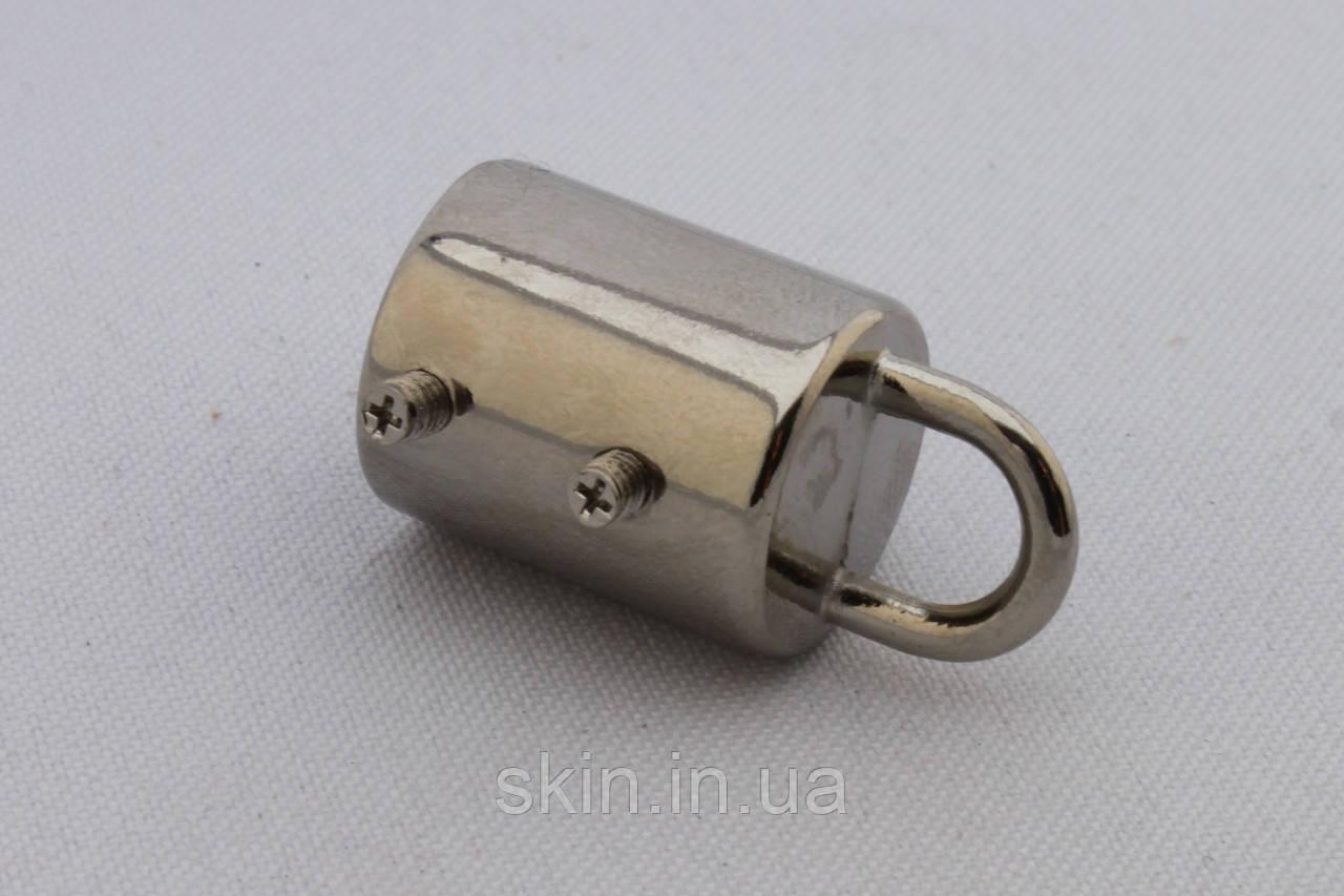 Ручкодержатель-боченок, диаметр 20 мм, цвет - никель, артикул СК 5533