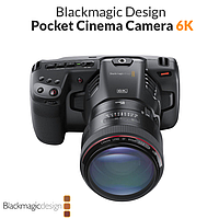 Камера Blackmagic Design Pocket Cinema Camera 6K (Canon EF) (CINECAMPOCHDEF6K), фото 1