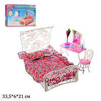 Мебель для кукол кровать спальня Gloria 2814