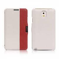 Чехол iCarer для Samsung Galaxy Note 3 Colorblock White/Red (side-open)