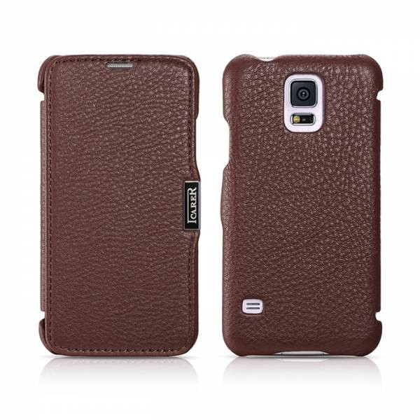 Чехол iCarer для Samsung Galaxy S5 Litchi Coffee (side-open)