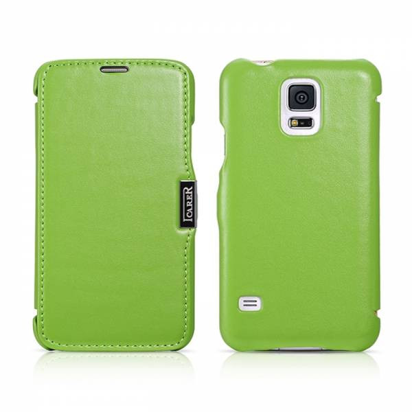 Чехол iCarer для Samsung Galaxy S5 Luxury Green (side-open)